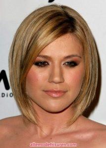 100 besten Frisuren für runde Gesichtersformen