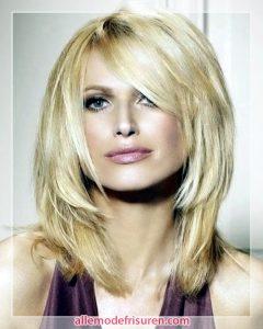 Freche Mittellange Frisuren Blonde Mittellange Frisuren 2017 240x300 - Coole Mittellange Frisuren 2018-2019