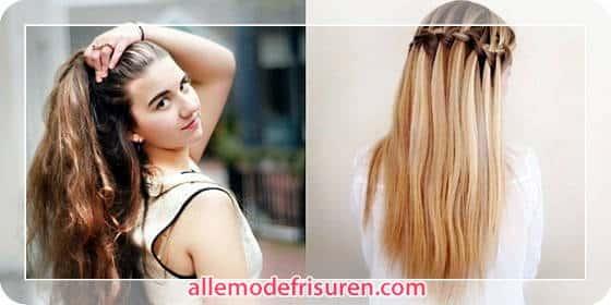 Geflochtene Frisuren für langes Haar
