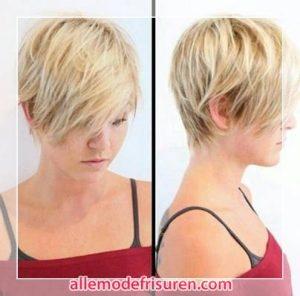Kurzhaarschnitt für Layered Blond Haar 2016 2017