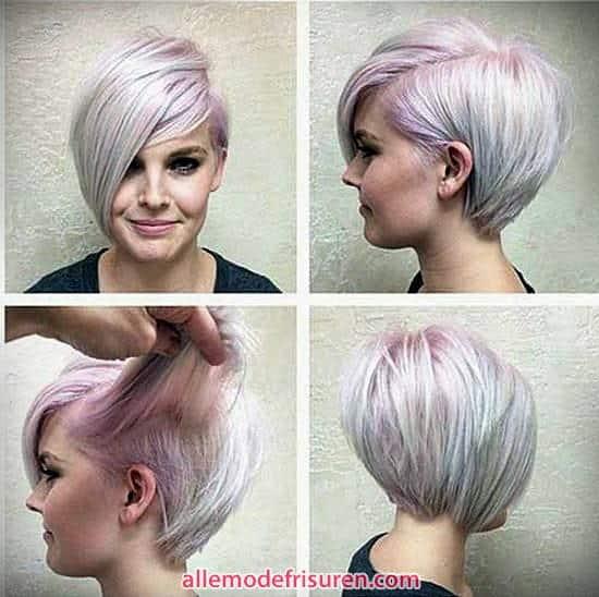 2017 rosa kurze Haare Platin