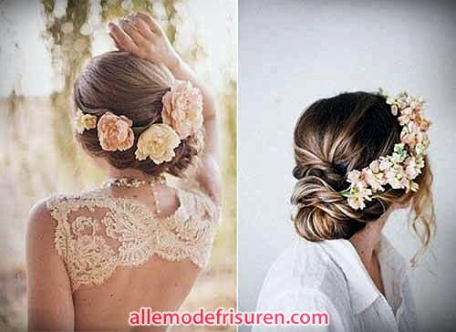Bohemians Zöpfe Frisur für Hochzeit