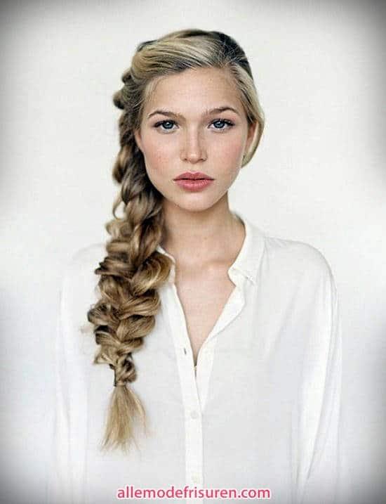 Zopf Haare blond Nixeart frisuren