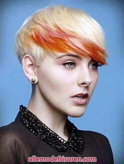 neueste Mode Haare hatte orange gelb - Letzte Art und Weise kurze Haare