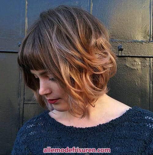 Curly Bangs Frisuren 3 - Haircuts mit Pony-Frisur Kurz und lockiges Haar