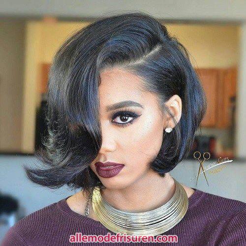 trendige kurze frisuren fuer schwarze frauen 5 - 2018 Trendige kurze Frisuren für schwarze Frauen