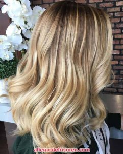 Ballen blonde Haare Modelle 2018