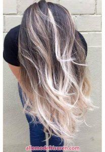 Esche Farbe grau gelb ombre Haarfarbe Modelle