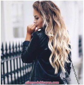 Gelbes Haarfarbe ombre Modell