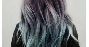 Graue und blaue ombre Haarfarbe 2018