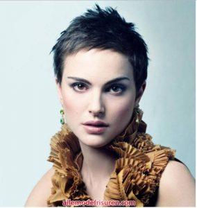 Natalie Portman stachelige Pixie Frisuren und Modelle
