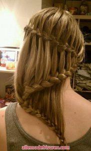 Wasserfall Haar Zopf 13
