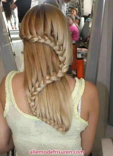 Wasserfall Haar Zopf 15