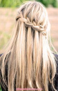 Wasserfall Haar Zopf 16