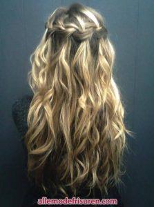 Wasserfall Haar Zopf 17