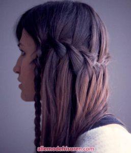 Wasserfall Haar Zopf 3