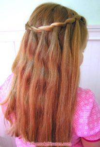 Wasserfall Haar Zopf 6